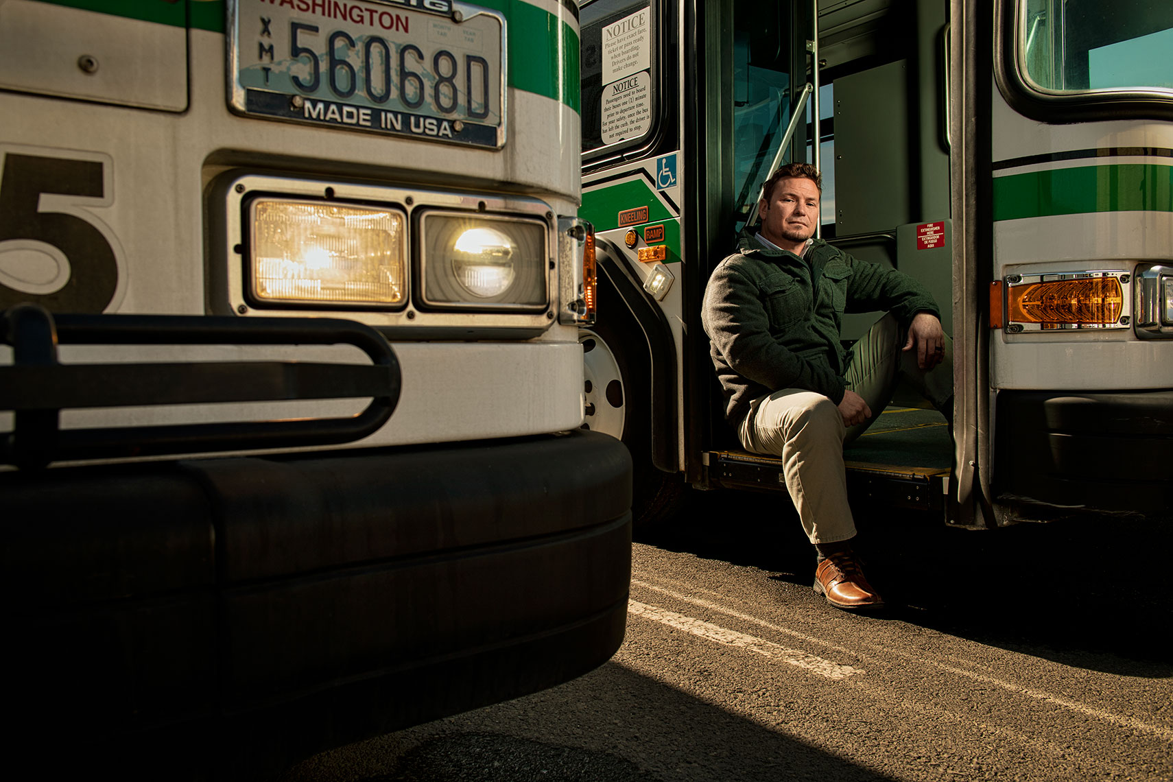 Bus Driver, corporate, commercial, editorial photography, seattle, northwest, rick dahms photographer
