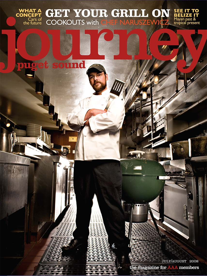 Journey, AAA, Magazine Cover, Magazine Photography, editorial, portrait photography, advertising, business photography, corporate, headshot photography, Rick Dahms, Seattle