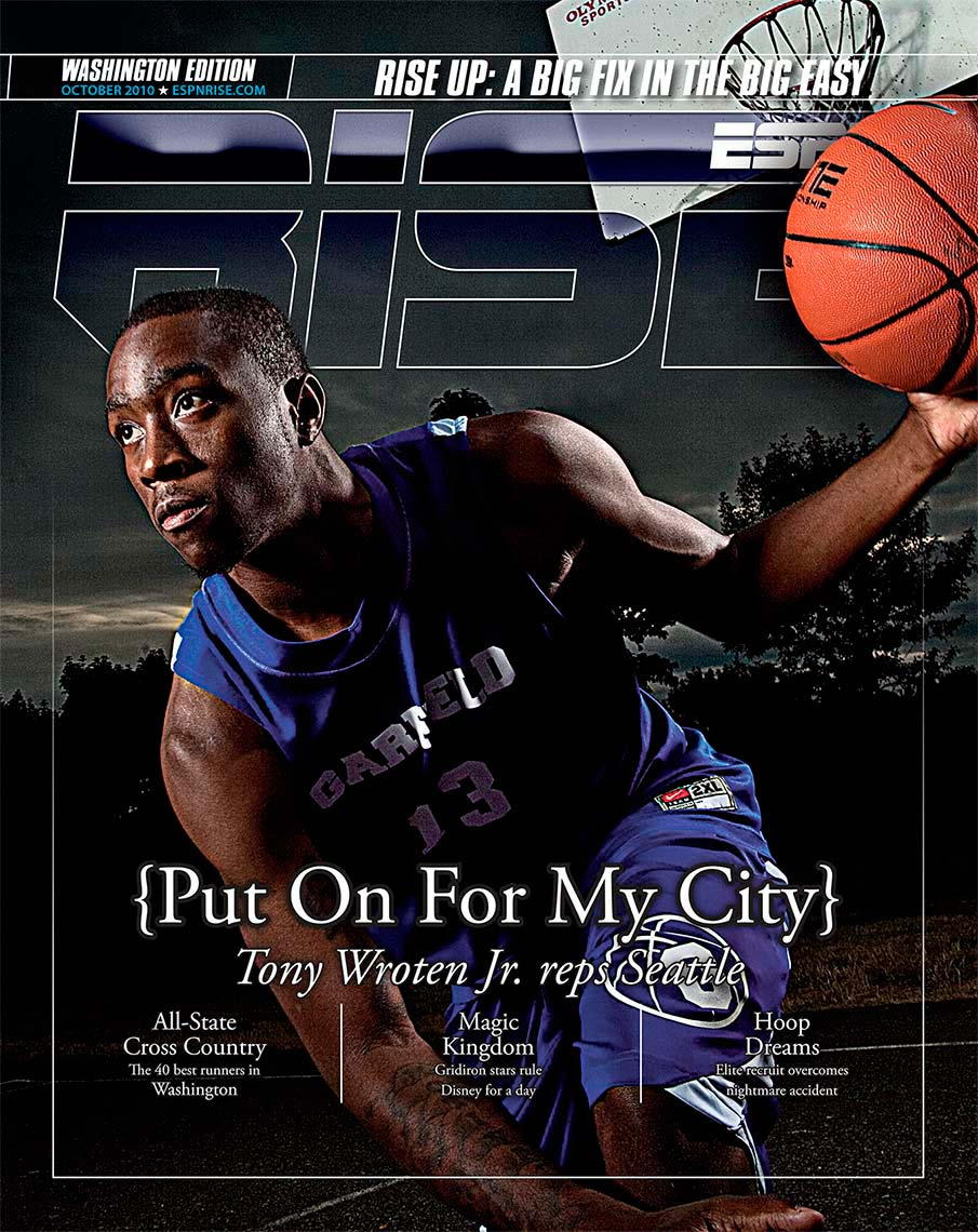 Tony Wroten, ESPN, Magazine Cover, Sports photography, editorial, business photography, corporate annual report photography celebrity photography, seattle tacoma photographer